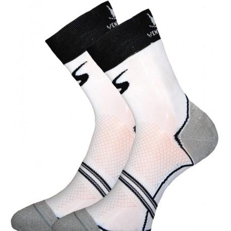 Socquette Haute Carbone Blanc/Noir