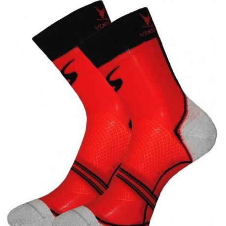 Socquette Haute Carbone Rouge/Noir