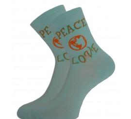 Socquette Coton Peace Love