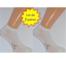 Invisible Coton Peigné Lot de 2 paires Femme
